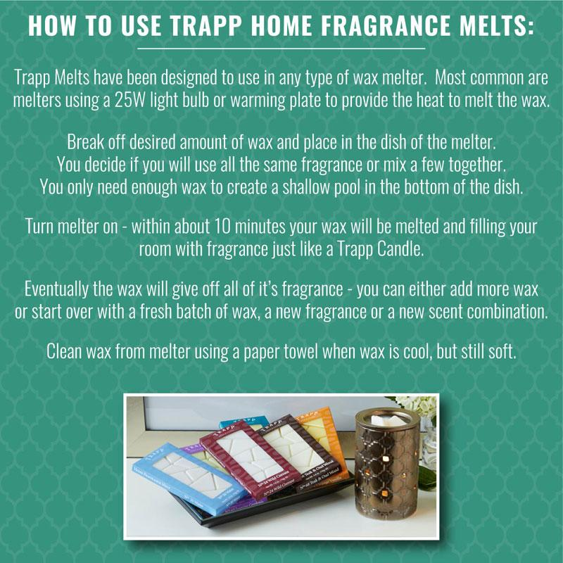 How to Use Trapp Wax Melts